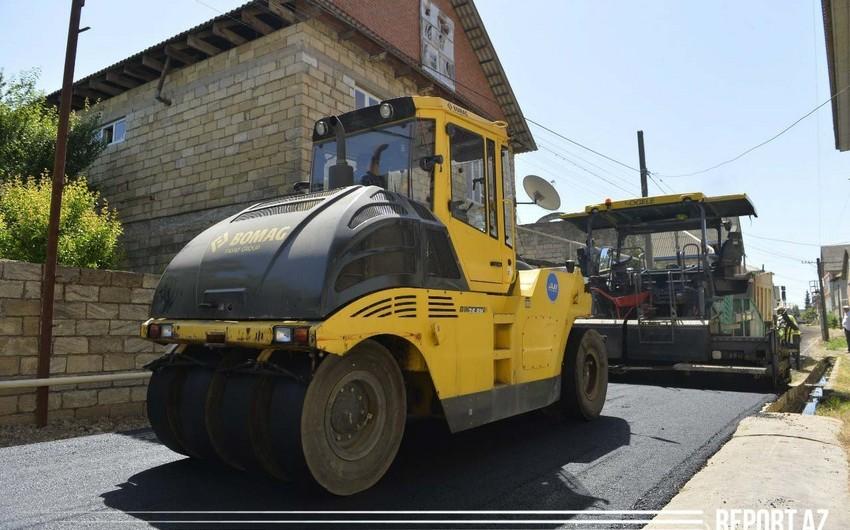 Lənkəranda daxili yollar asfaltlaşdırılır - VİDEO