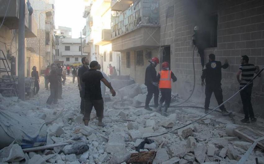 Suriyada yaşayış yerinin bombalanması nəticəsində 20 nəfər ölüb, 24 nəfər yaralanıb
