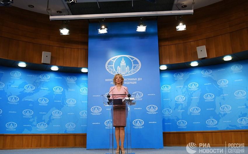 Mariya Zaxarova Rusiyanın Azərbaycana yardımından danışıb