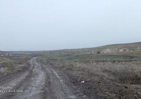 Füzuli rayonunun Aşağı Veysəlli kəndindən videogörüntülər
