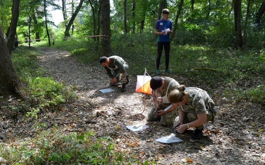 First stage of orienteering competition that is held in the Azerbaijan Army ended