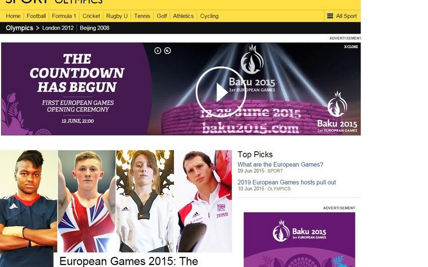 BBC Sport I Avropa oyunlarına məqalə həsr edib