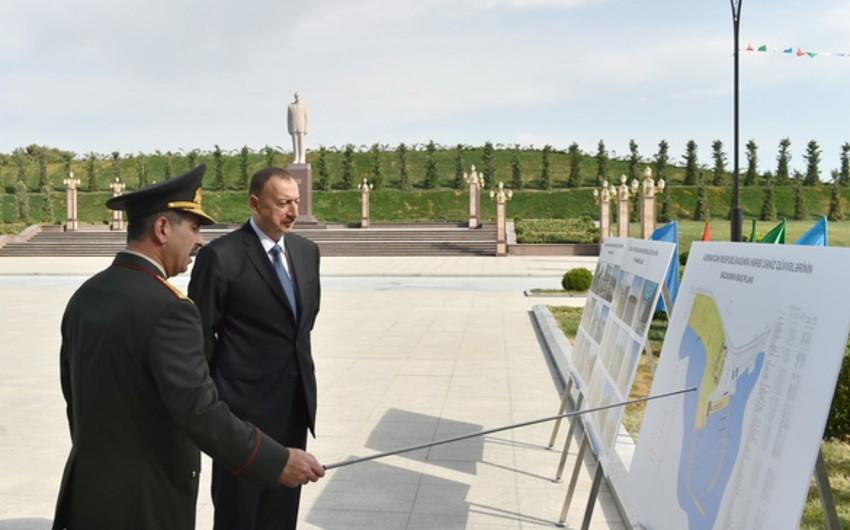 Azərbaycan Prezidenti Hərbi Dəniz Qüvvələri bazasının açılışında iştirak edib