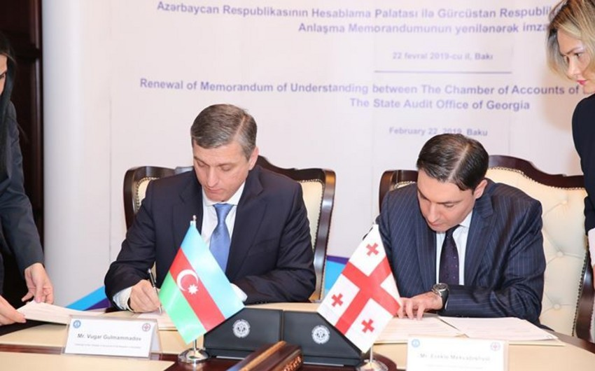 Gürcüstan Dövlət Audit Ofisi və Azərbaycan Hesablama Palatası anlaşma memorandumu imzalayıb
