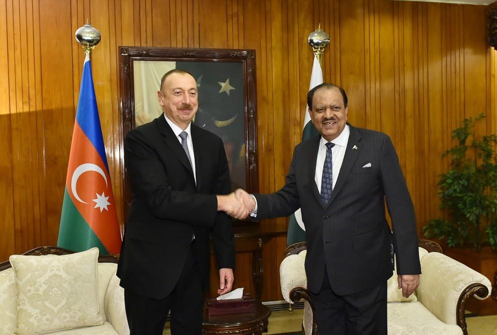 Pakistan prezidenti: Azərbaycanla siyasi və müdafiə sahələrində əməkdaşlığı genişləndirməyə tərəfdarıq