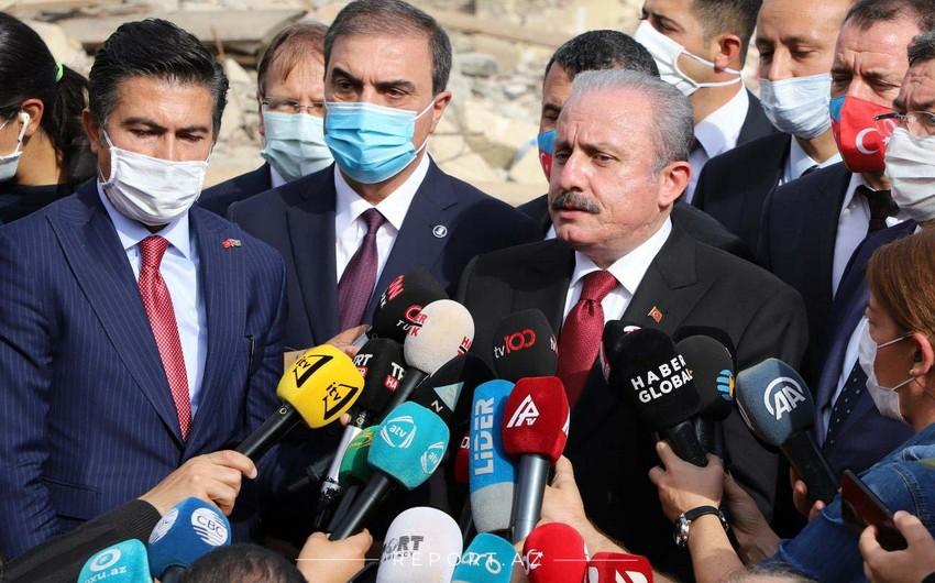 TBMM sədri Ermənistanın Türkiyəyə embarqo qoymasını lətifə adlandırdı