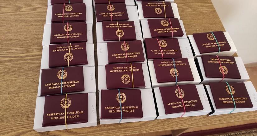 Zərdabda Vətən müharibəsinin 20 iştirakçısına medallar təqdim olunub