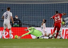 Real Madrid Sevilyaya məğlubiyyətdən qurtuldu