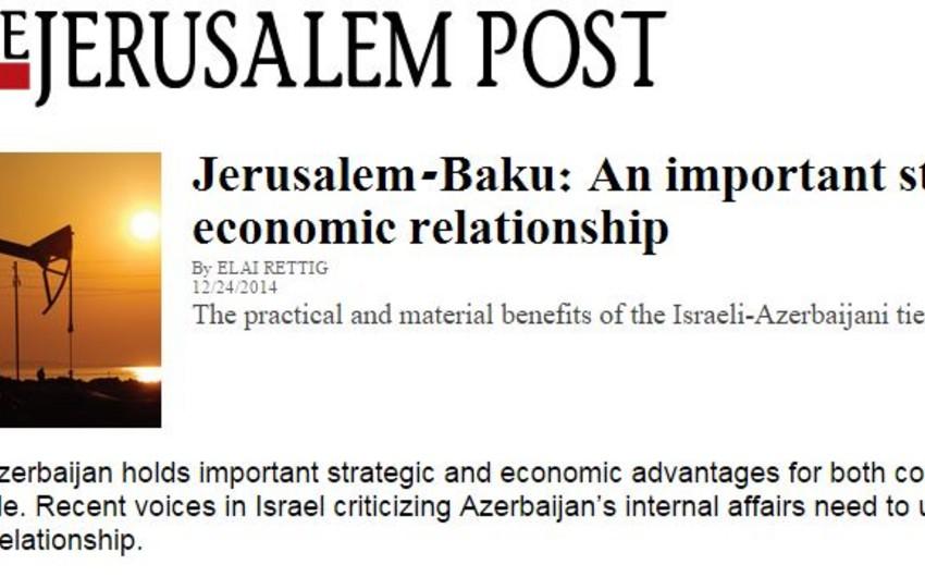 """İsrailin """"Jerusalem Post"""" qəzeti özünün və """"Haaretz""""  nəşrinin Azərbaycana qərəzli mövqeyini etiraf edib"""