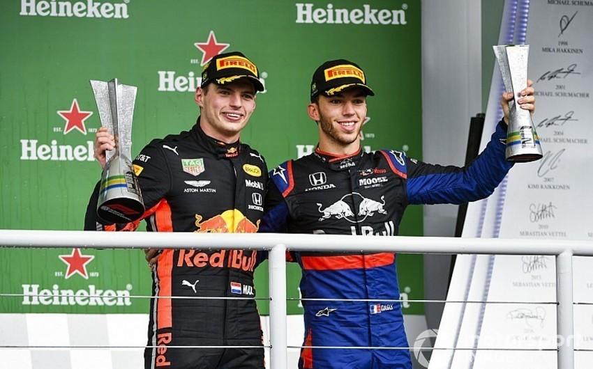 Formula 1: Maks Ferstappen Braziliya Qran-prisinin qalibi olub, Lüis Hemilton cərimələnib