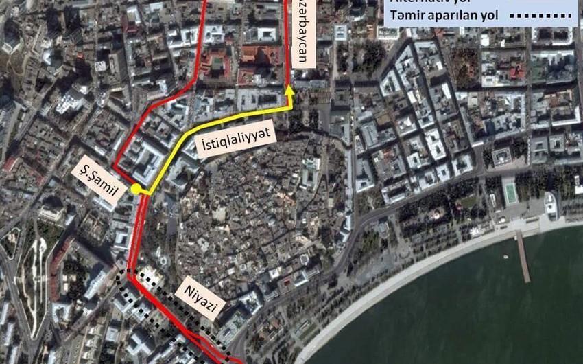 Bakıda iki marşrut xətti üzrə avtobusların yolu dəyişdirilib