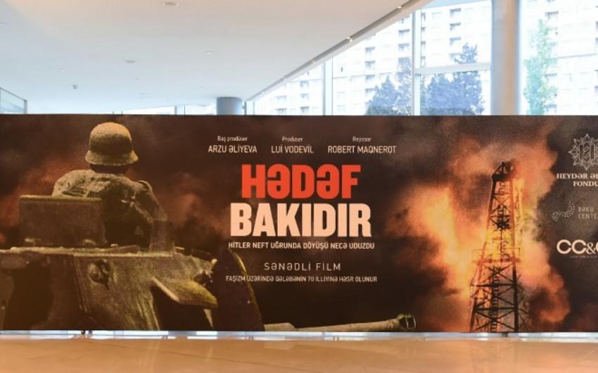 """Paytaxtda """"Hədəf Bakıdır. Hitler neft uğrunda döyüşü necə uduzdu"""" filmi təqdim olunub"""