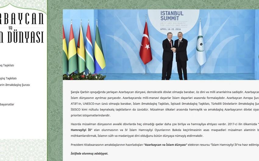 """Prezident Kitabxanasında """"Azərbaycan və İslam dünyası"""" elektron resursunun təqdimatı olub"""