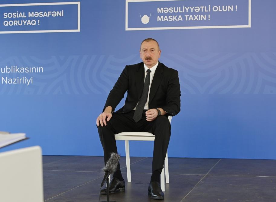"""Prezident İlham Əliyev """"Aprel döyüşləri heç kimin yadından çıxmasın"""""""
