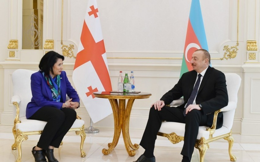 Salome Zurabişvili: Gürcüstanın bütün prezidentləri Azərbaycanın dostu olub və mən də bu ənənəni davam etdirirəm