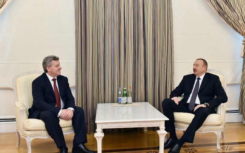 Президент Азербайджана встретился с македонским коллегой - ОБНОВЛЕНО