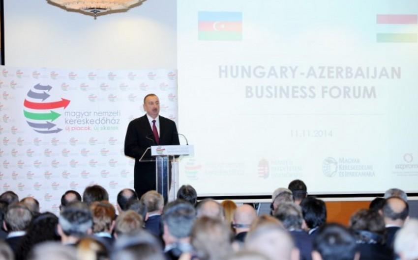 Budapeştdə Macarıstan-Azərbaycan biznes forumu keçirilib