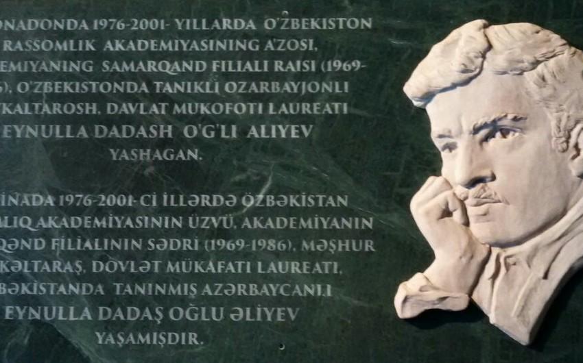 Səmərqənddə tanınmış azərbaycanlı heykəltəraşın barelyefi açılıb