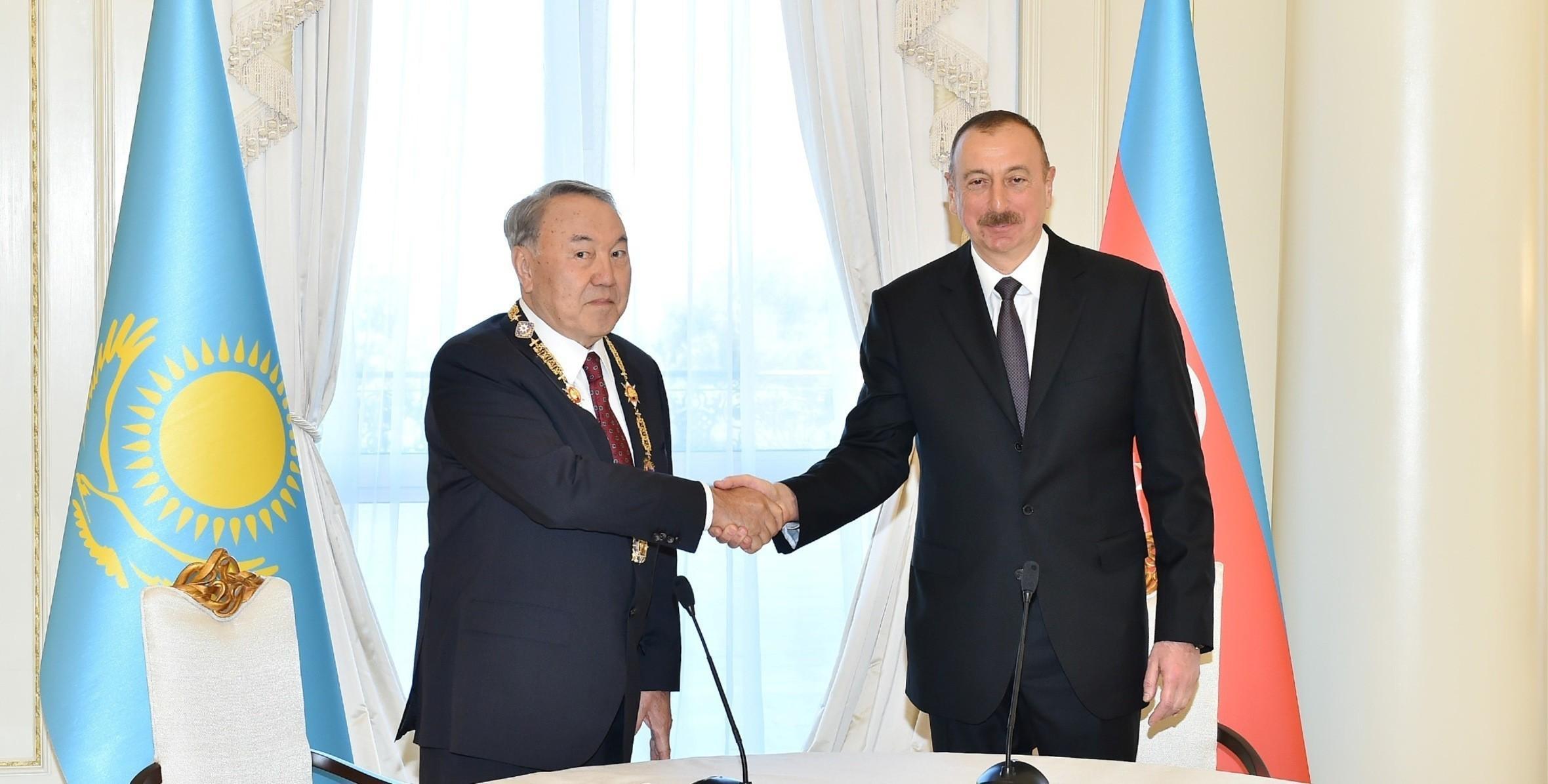 Нурсултан Назарбаев поздравил президента Ильхама Алиева с днем рождения