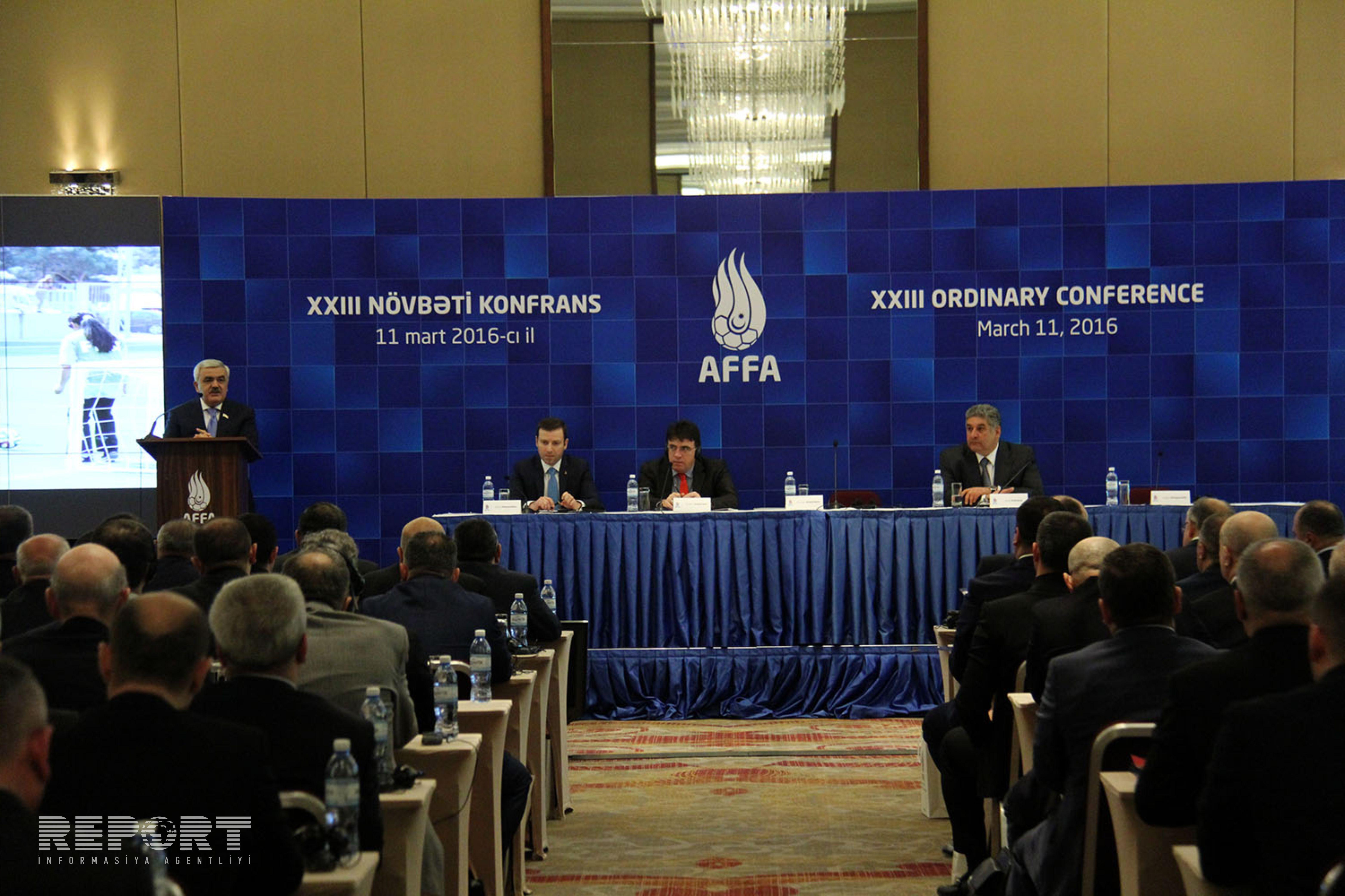 Ровнаг Абдуллаев переизбран на пост президента АФФА