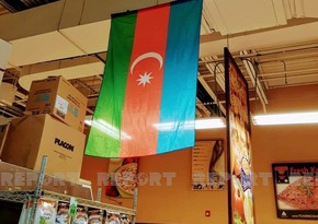 В известной сети супермаркетов в США вывешен флаг Азербайджана