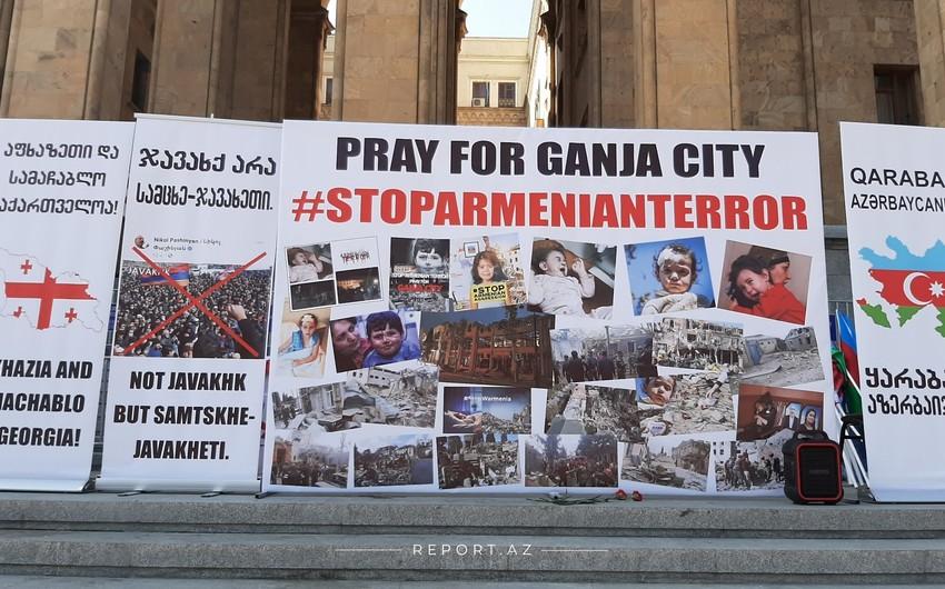 Tbilisidə Gəncə terrorlarına etiraz bildirilir