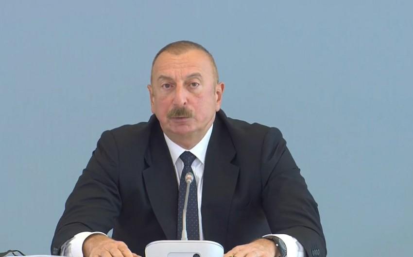 Prezident İlham Əliyev Azərbaycan-Aİ münasibətlərindən danışıb