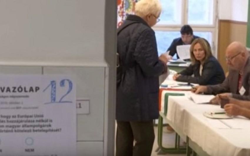 Macarıstanda qaçqınlar üzrə referendumda seçicilərin 50%-dən az hissəsi səs verib