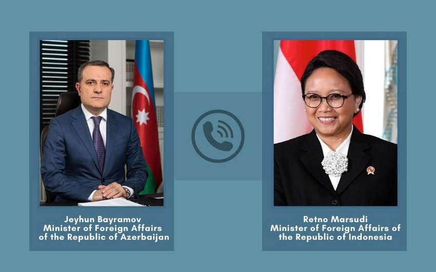 Azərbaycan və İndoneziya XİN başçıları arasında -