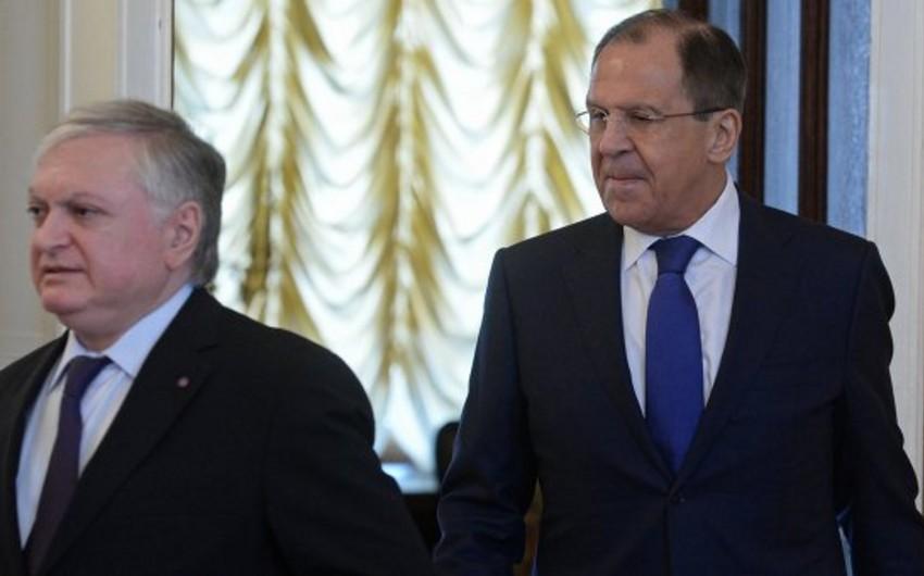 Sergey Lavrov erməni həmkarı ilə Dağlıq Qarabağ münaqişəsini müzakirə edib