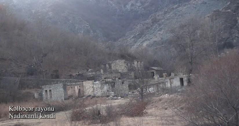 Видеокадры из села Надирханлы Кельбаджарского района