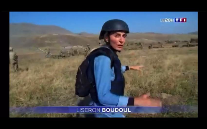 Fransanın TF1 televiziya kanalı cəbhə xəttindən reportaj yayımlayıb