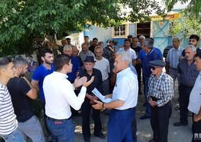 Protest action held in Azerbaijani village in Georgia  PHOTO