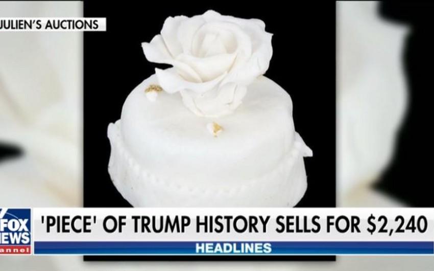 Donald və Melaniya Trampın toy tortu 2240 dollara satılıb