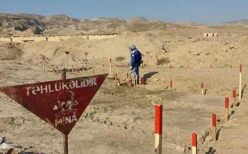 Ötən ay azad olunan ərazilərdə aşkarlanan minaların sayı açıqlanıb