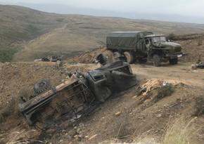 Ermənistanın məhv edilmiş hərbi texnikasının dəyəri açıqlanıb