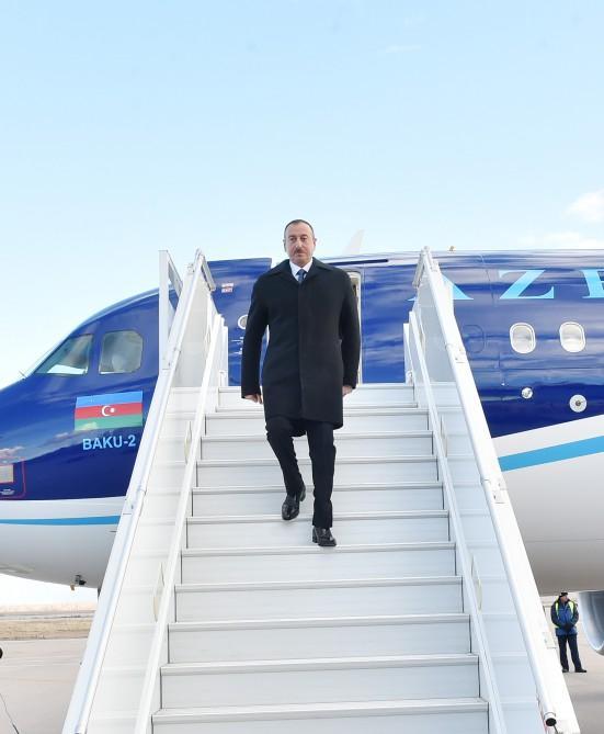 Президент Ильхам Алиев отбыл с рабочим визитом в Казахстан - ФОТО