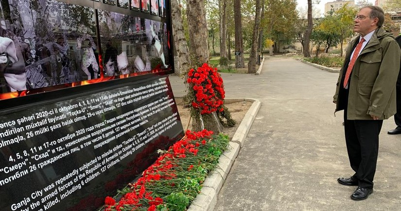 US envoy honors memory of those killed in terror attacks in Azerbaijan's Ganja