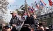 Сторонники оппозиции прибывают в палаточный лагерь в центре Еревана