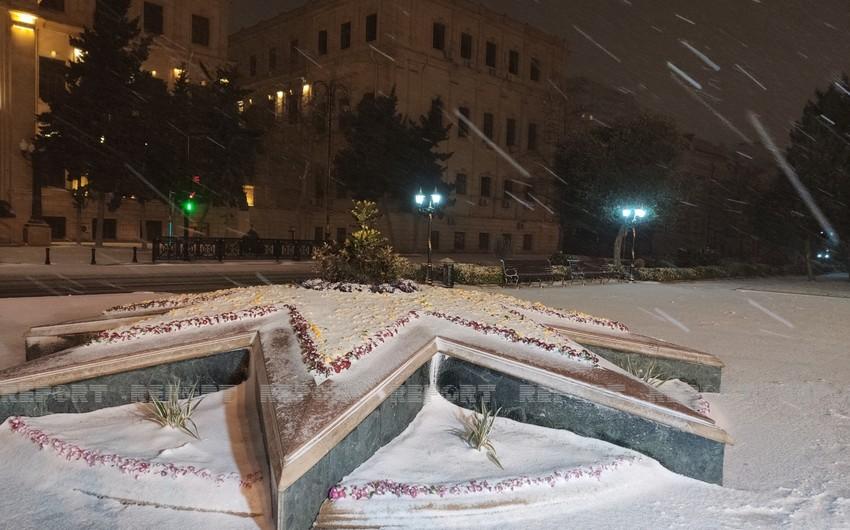 Самая холодная ночь зимы в Баку