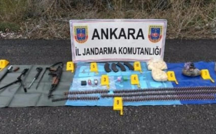 Ankara jandarmı binası yaxınlığında silah-sursat aşkarlanıb