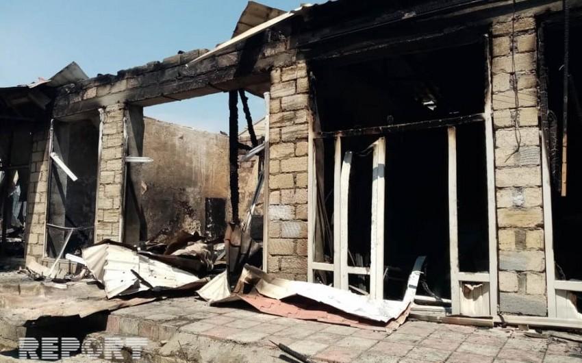 На рынке в Барде сгорели 12 магазинов - ВИДЕО