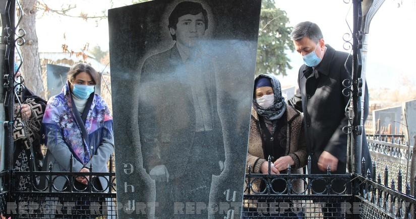 Gürcüstanda 20 Yanvar şəhidinin məzarı təmir olunur