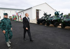 Supreme Commander-in-Chief gets acquainted with military unit of State Border Service in Zangilan