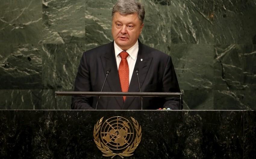 Poroşenkonun BMT-də çıxışı zamanı Rusiya nümayəndə heyəti zalı tərk edib