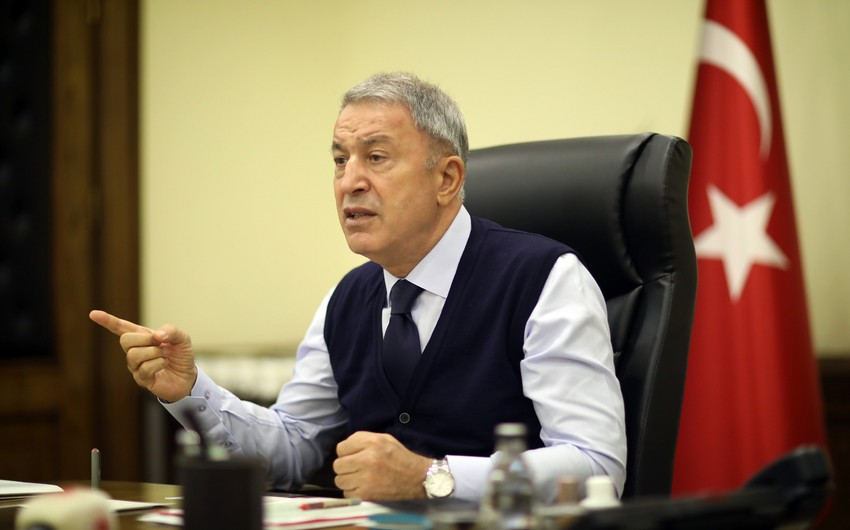 """Hulusi Akar: """"Ermənistanın qətliamları qarşısında susanlar ikiüzlüdürlər"""""""