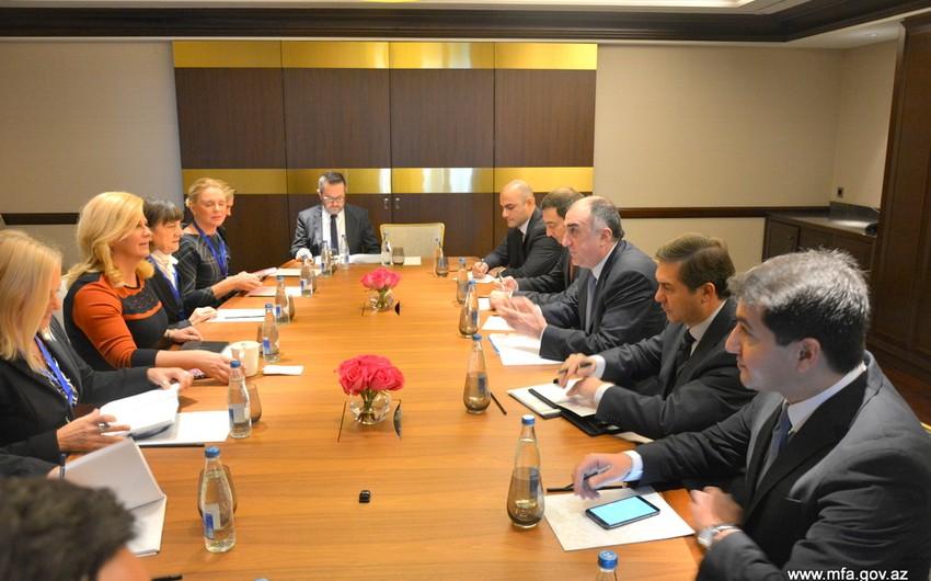 Azərbaycan XİN başçısı Xorvatiya prezidenti ilə görüşüb