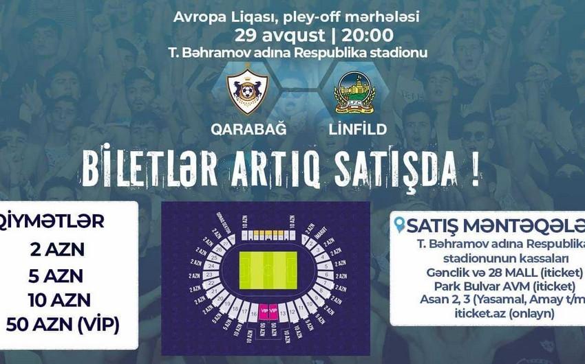 Qarabağ - Linfild oyununun biletləri satışa çıxarılıb
