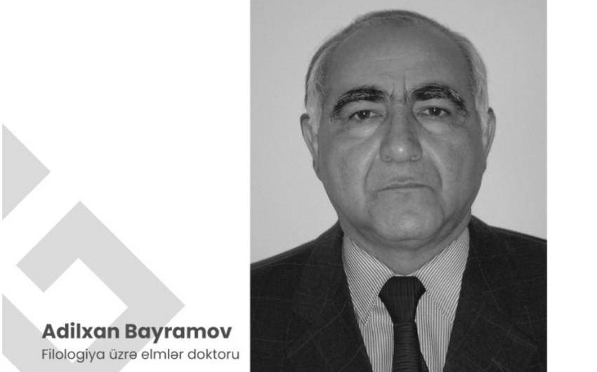 Ədəbiyyatşünas alim AdilxanBayramov vəfat edib