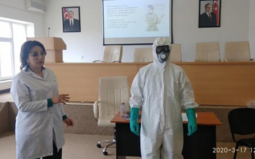 Bakıda koronavirusla mübarizə aparan tibb personalı üçün təlim-treninqlərə başlanılıb